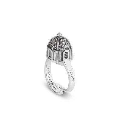 anello cupola chiesa santo stefano capri donna gioielli argento ellius