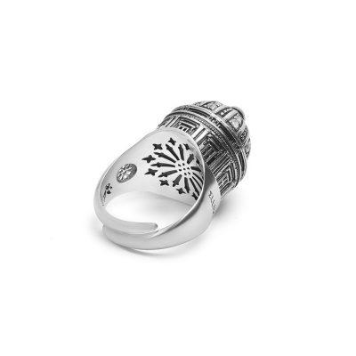 anello cupola gambo cattedrale noto donna argento ellius