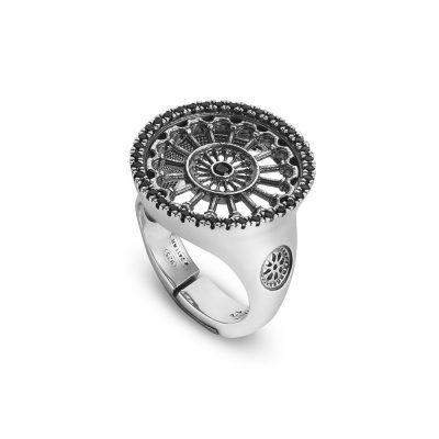 anello rosone basilica matera donna gioielli argento ellius