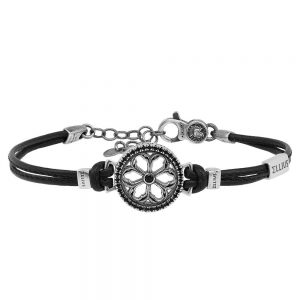 Rose window leather bracelet Maria SS. Addolorata | Castelpetroso