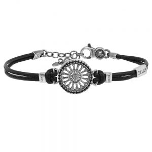 Rose window leather bracelet Madonna della Bruna | Matera