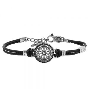 Rose window leather bracelet San Marco | Venice