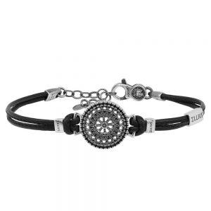 Rose window leather bracelet S. Pietro | Viterbo