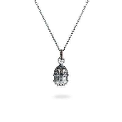 collana cupola basilica superga donna gioielli argento ellius