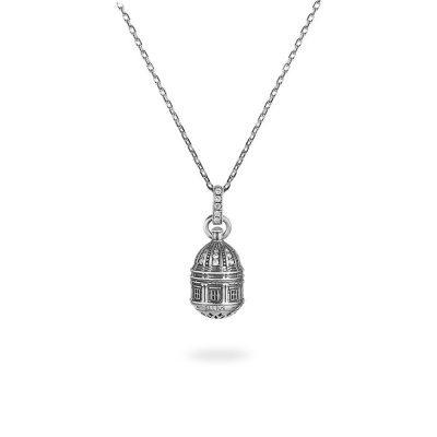 collana cupola cattedrale noto donna argento ellius