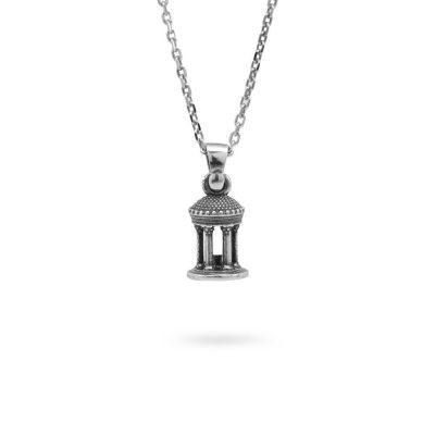 collana-tempio-diana-tondo-argento-invecchiato-ellius-gioielli
