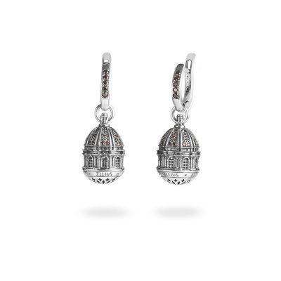 orecchini cupola basilica torino superga donna gioielli argento ellius