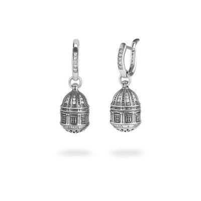 orecchini cupola cattedrale noto donna argento ellius