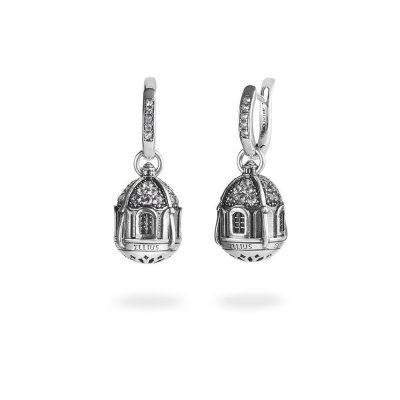 orecchini cupola chiesa capri donna gioielli argento ellius