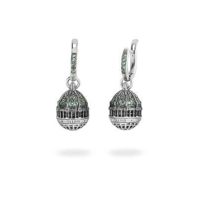 orecchino cupola cattedrale berlino donna gioielli argento ellius