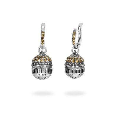 orecchino cupola cattedrale mosca donna gioielli argento ellius