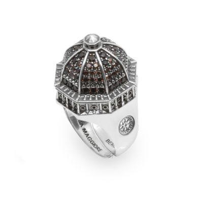 anello cupola santa maria maggiore bergamo gioielli argento donna Ellius