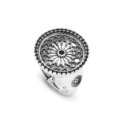 Anello Rosone Otranto gioielli argento Ellius