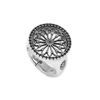 Anello Rosone Sorgono gioielli argento Ellius
