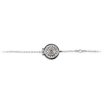 Bracciale Natività donna pietre bianche gioielli argento Ellius centrale