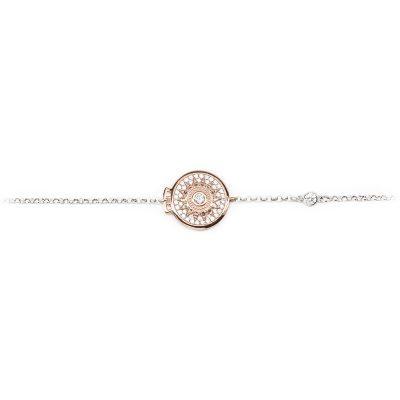 Bracciale Natività rose pietre bianche gioielli argento Ellius centrale