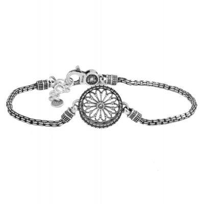 Bracciale Rosone Sorgono gioielli argento Ellius