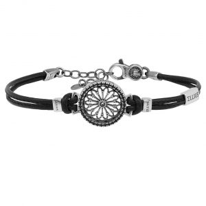 Rose window leather bracelet S. Mauro | Sorgono