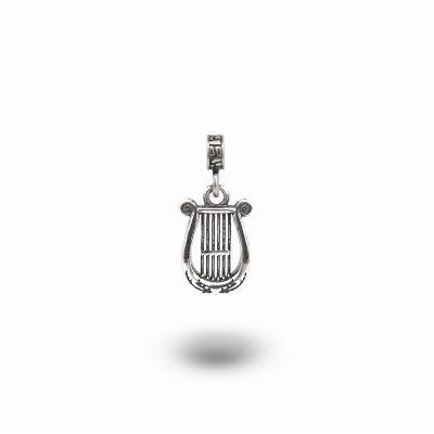 Charm Mitologia Lira gioielli argento Ellius