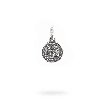 Charm Mitologia Medusa gioielli argento Ellius maglina