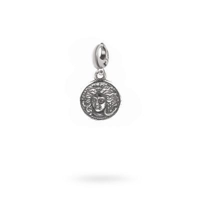Charm Mitologia Medusa gioielli argento Ellius moschettone
