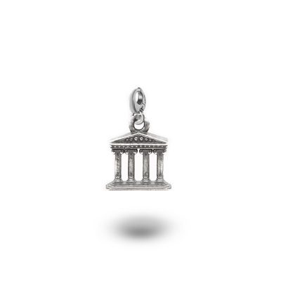 Charm Mitologia Tempio gioielli argento Ellius moschettone