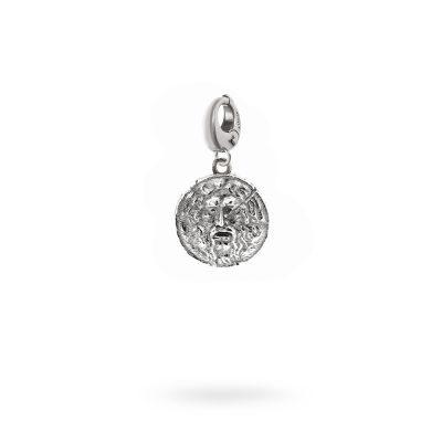Charm Mitologia bocca della verità gioielli argento Ellius moschettone