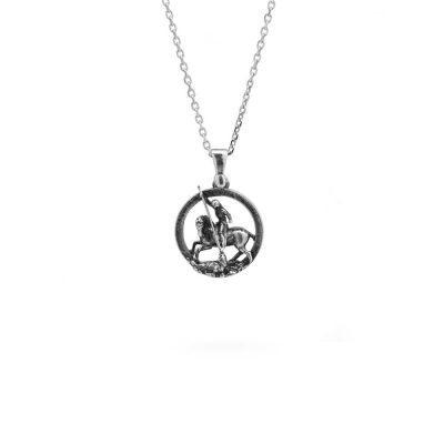 Collana Charm San Giorgio gioiello argento Ellius