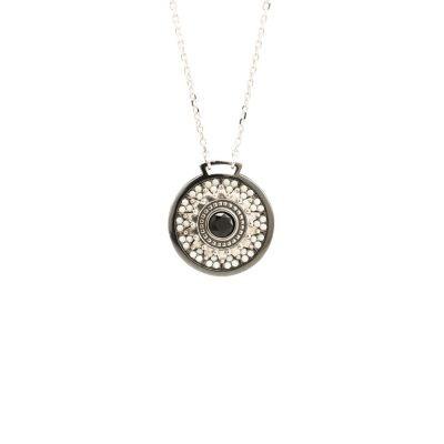Collana Minimal Natività pietre avorio gioiello argento Ellius