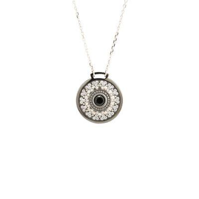 Collana Minimal Natività pietre bianche gioiello argento Ellius