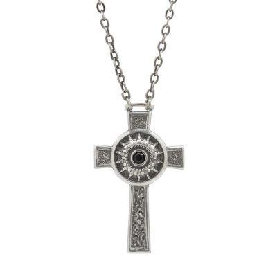 Collana Natività Croce Uomo gioielli argento Ellius