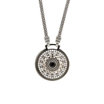 Collana Natività pietre bianche gioiello argento Ellius