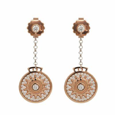 Orecchini Natività Donna rosè gioielli argento Ellius