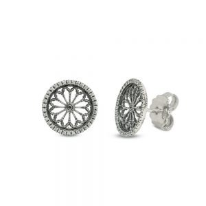 Earrings Rose Window S. Donato | Pinerolo