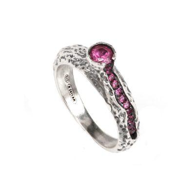 anello vulcano donna argento