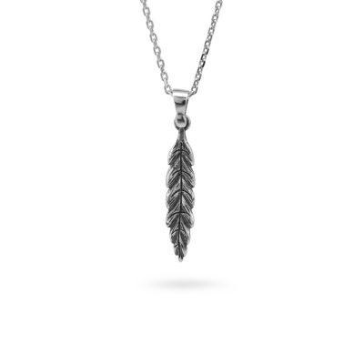 collana foglia alloro mitologia ellius gioielli argento
