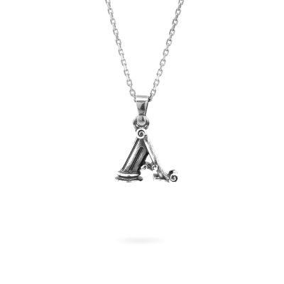 collana lettera A argento ellius gioielli