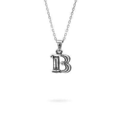 collana lettera b argento ellius gioielli
