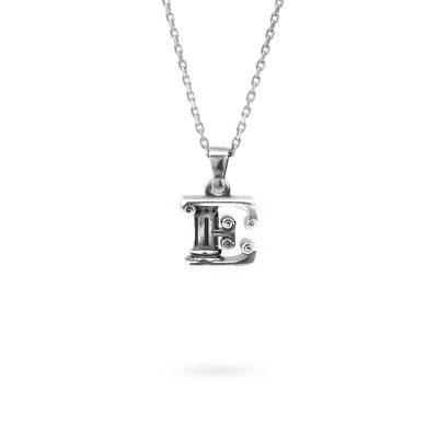 collana lettera E argento ellius gioielli