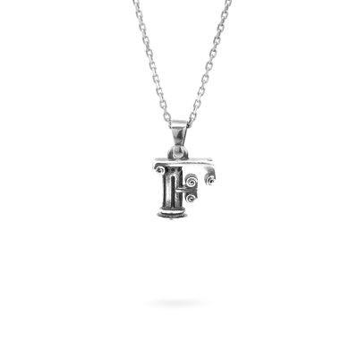 collana lettera F argento ellius gioielli