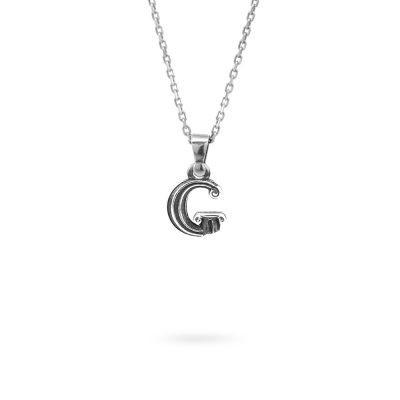 collana lettera G argento ellius gioielli