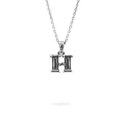 collana lettera H argento ellius gioielli