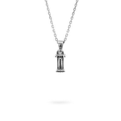 collana lettera I argento ellius gioielli