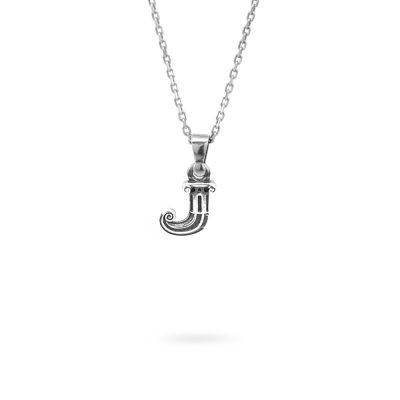 collana lettera J argento ellius gioielli