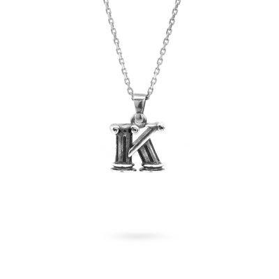 collana lettera K argento ellius gioielli