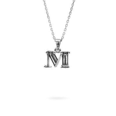 collana lettera M argento ellius gioielli