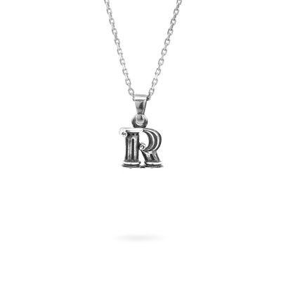 Collana lettera R argento ellius gioielli