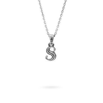collana lettera S argento ellius gioielli