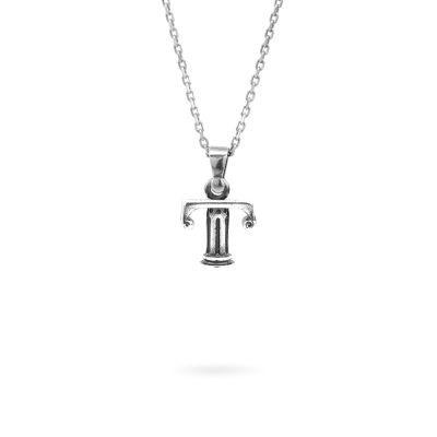 collana lettera T argento ellius gioielli