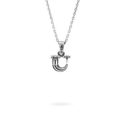 collana lettera U argento ellius gioielli
